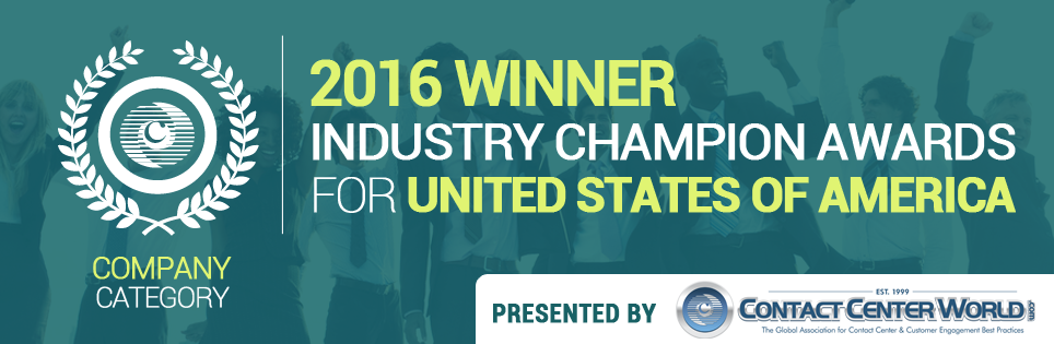 Contact Center World Industry Champion Banner